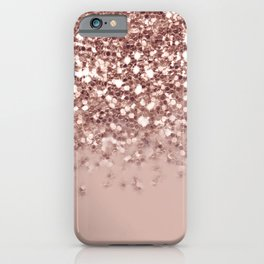 Glam Rose Gold Pink Glitter Gradient Sparkles iPhone Case