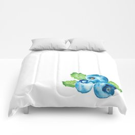 Watercolour Blueberry Comforters