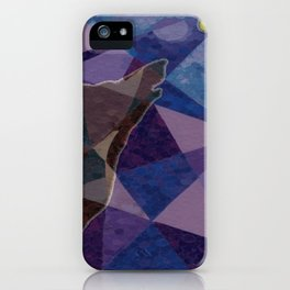 """ Wolf Design Hole Punch "" iPhone Case"