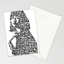 Kanji Calligraphy Art :woman's face #32 Stationery Cards