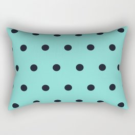 Small Black Dots on Aqua Rectangular Pillow