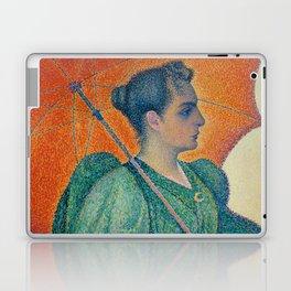 Woman with a Parasol (Femme à l'ombrelle) Laptop & iPad Skin