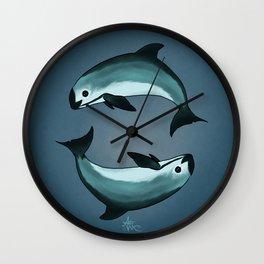 Spiraling ~ Vaquita Porpoise art by Amber Marine (Copyright 2015) Wall Clock