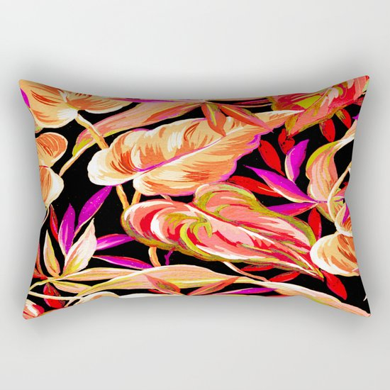 fall tropical leaves Rectangular Pillow