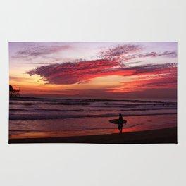 California Beach Sunset Rug