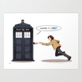 allons-y, sam! (supernatural x doctor who) Art Print