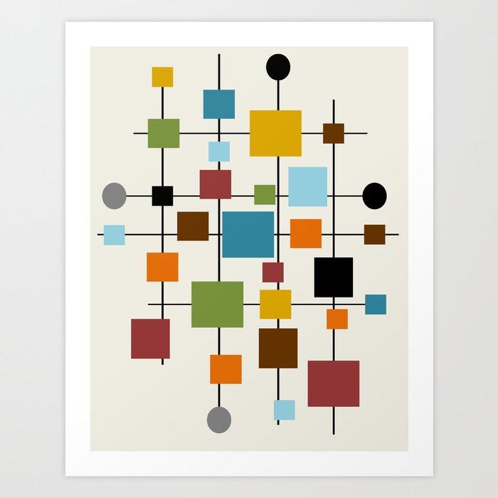 Mid Century Modern Art 13 Kunstdrucke