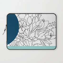 VESSEL - Floral Ink in Peacock & Mint - Cooper and Colleen Laptop Sleeve