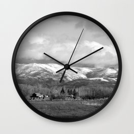 Montana Neighbors Wall Clock