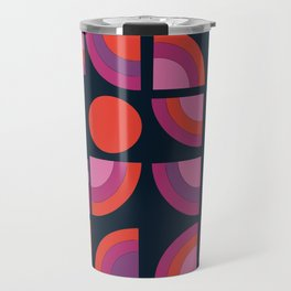 Outta Sight - 70s retro throwback trendy vintage style geometric 1970's Travel Mug
