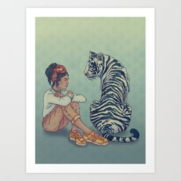 Signe du Tigre Art Print