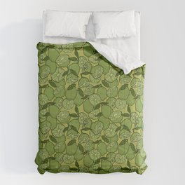 Lime Greenery Comforters