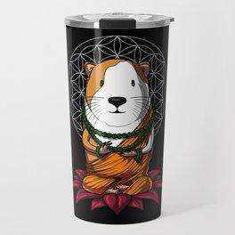 Guinea Pig Zen Yoga Meditation Cavy Pet Travel Mug