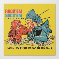 ROCK 'EM, SOCK 'EM JAEGERS Canvas Print