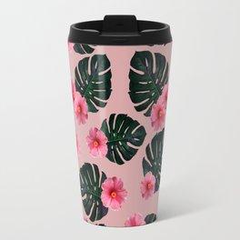 Tropical pattern n.1 - pink Travel Mug