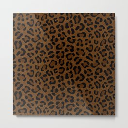 Leopard Print - Dark Metal Print
