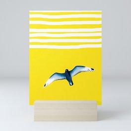 Soaring - sunshine stripe sky Mini Art Print