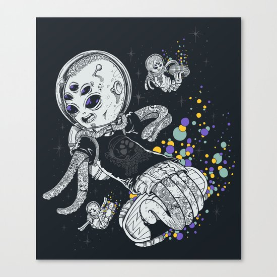 SKATE INVADERS Canvas Print