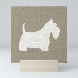 White Scottish Terrier Silhouette Mini Art Print