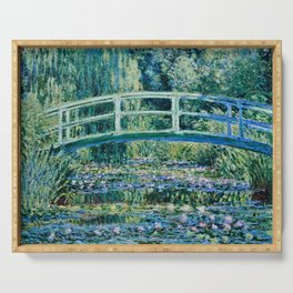 Claude Monet - Water Lilies And Japanese Bridge Serving Tray