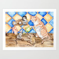 Zoe's Tea Party Art Print