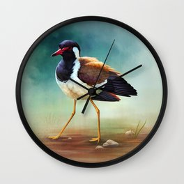 Red-wattled Lapwing Wall Clock