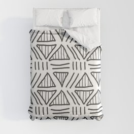Mudcloth White and Black Comforters