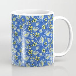 Sprigs with leaves and flowers. Coffee Mug