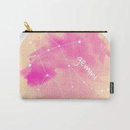 Watercolor Gemini Constellation Carry-All Pouch