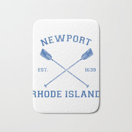 Vintage Summers in Newport Vacation print Bath Mat