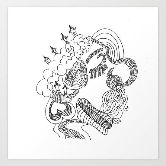dreams in line Art Print