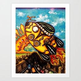 Rocket Bike Art Print