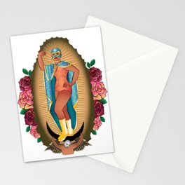 Lucha Libre Virgin of Guadalupe Stationery Cards