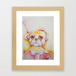 Fancy Pug Framed Art Print