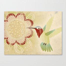 Happy Hummingbird Canvas Print