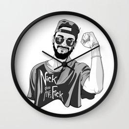 Nick give me a f*ck Wall Clock