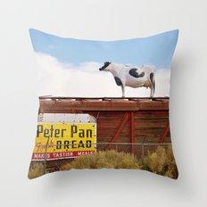 Catwalk Heifer Throw Pillow