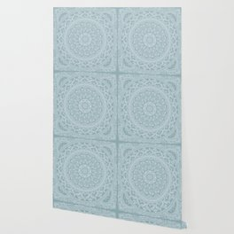 Mandala - Soft turquoise Wallpaper