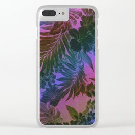 Happy Aloha Purple Clear iPhone Case