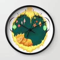 sandman Wall Clocks featuring Sandman Circlet by Z Doodle