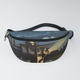 The Danger Signal: Train Scene, Currier & Ives Fanny Pack