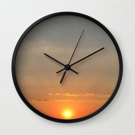 Russian sunset Wall Clock