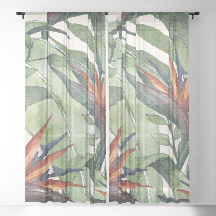 Tropical Flora I Sheer Curtain