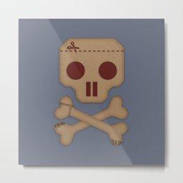 Paper Pirate Metal Print