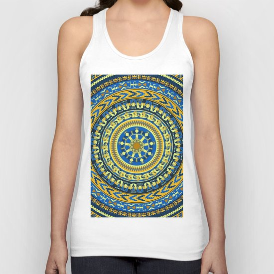 Tribal Aztec Round Unisex Tank Top