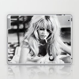 Brigitte Bardot Playing Cards, Black and White Photograph Laptop & iPad Skin