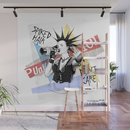 Punk 101: Spiked Hair Don't Care Wall Mural