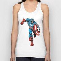 avenger Tank Tops featuring Avenger: Cap' by Popp Art