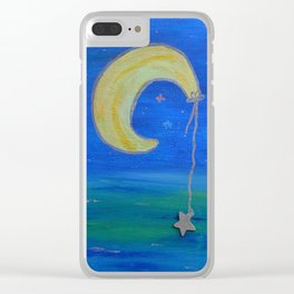 The Moon And Its Star Clear iPhone Case