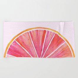 Sunny Grapefruit Watercolor Beach Towel